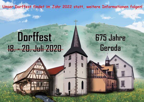 Dorffest Geroda 2020 abgesagt