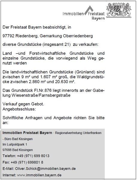 Immobilien Freistaat Bayern Anzeige